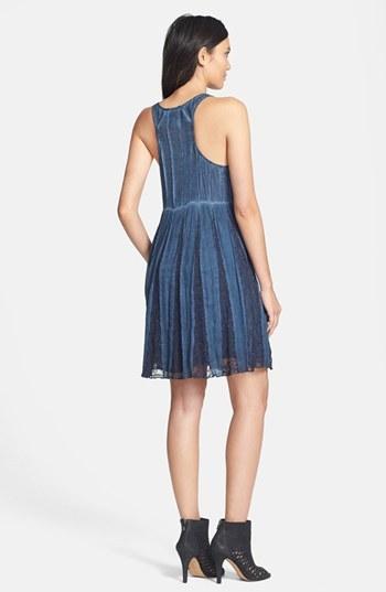 Babydoll Black Swan Seamed Dress