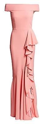 Alexander McQueen Women's Off-The-Shoulder Draped Gown