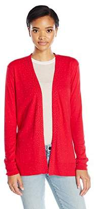 Calvin Klein Jeans Women's Studded Open Front Cardigan $69.50 thestylecure.com