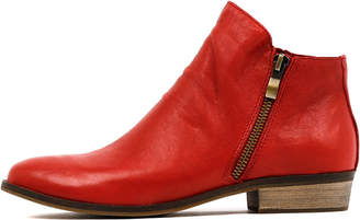 Django & Juliette Split Red Boots Womens Shoes Casual Ankle Boots