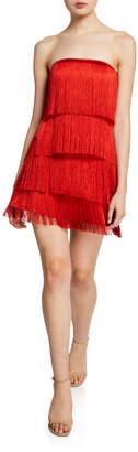 Alexis Rosmund Strapless Tiered Fringe Dress
