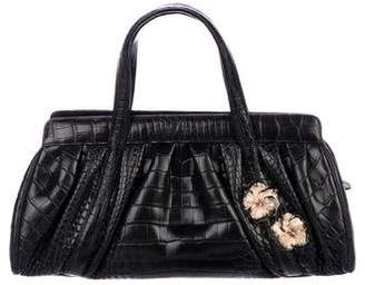 Judith Leiber Embossed Leather Handle Bag