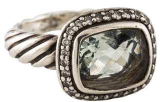 David Yurman Prasiolite & Diamond Noblesse Ring