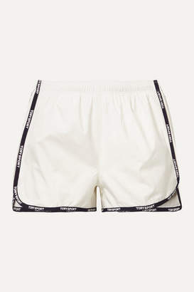 Tory Sport Banner Printed Shell Shorts - White