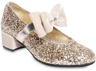 MonnaLisa Glittered Faux Leather Shoes