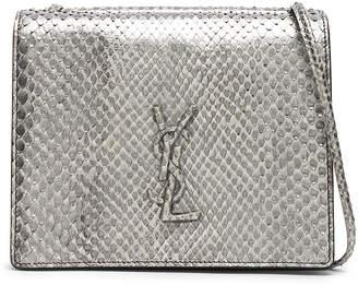 Saint Laurent Python Embossed Vintage Monogramme Bag