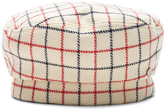 Maison Michel Reversible Florence Check Hat