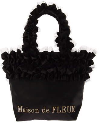 Maison de Fleur (メゾン ド フルール) - Maison de FLEUR ダブルフリルハンドルトートバッグ メゾン ド フルール バッグ