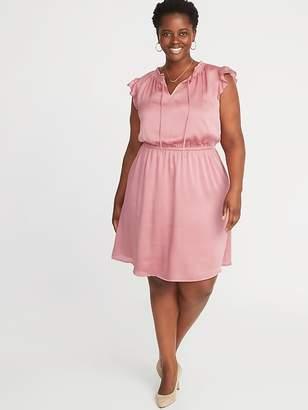 Old Navy Waist-Defined Crinkle-Georgette Plus-Size Dress