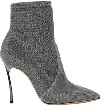 Casadei Silver Blade Heel Ankle-boots