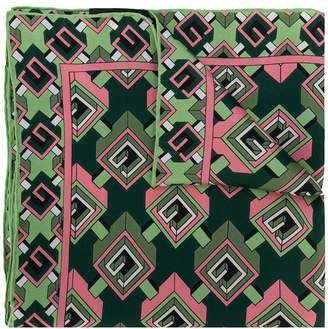 Gucci geometric G print pocket square