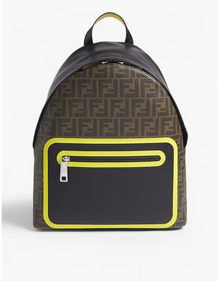 Fendi FF logo print backpack