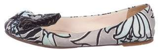 Prada Floral Print Ballet Flats