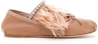 Miu Miu Nappa Ballerinas