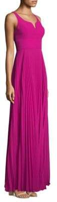 Laundry by Shelli Segal Pleated Chiffon Gown