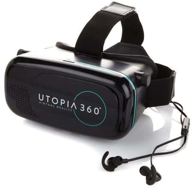 ReTrak Utopia 360-Degree Virtual Reality Headset with Wireless Earbuds and App Pack