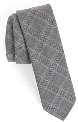 BOSS Plaid Wool Tie