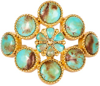 Christina Greene The Living Stone Cuff In Turquoise