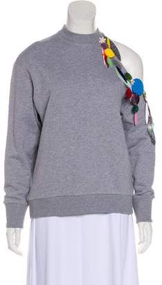 da3b571b4f0 Christopher Kane Embellished One-Shoulder Sweatshirt