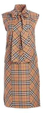 Burberry Luna Sleeveless Tie-Neck Dress