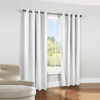 Asstd National Brand Irongate Blackout Jacquard Grommet-Top Curtain Panel