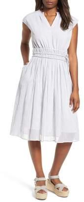 Caslon Cinch Waist Woven Dress