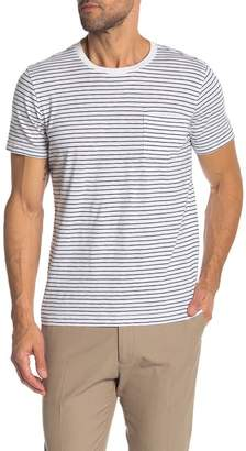 Brooks Brothers Short Sleeve Stripe Knit Pocket Tee