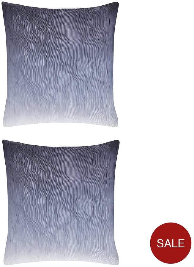 Karl Lagerfeld100% Cotton 200 Thread Count Stria Square Pillowcase Pair