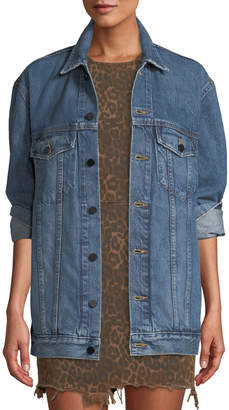 Alexander Wang Daze Button-Front Denim Jacket