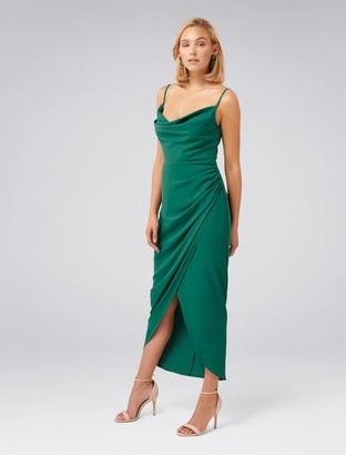 Forever New Andie Cowl Neck Dress - Storm - 4