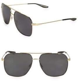 Barton Perreira Men's 60MM Aeronaut Navigator Sunglasses - Gold Black
