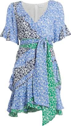 Tanya Taylor Bianka Ditsy Floral Silk Dress