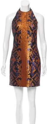Balmain Embellished Halter Dress