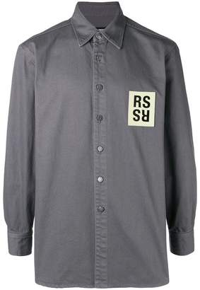Raf Simons logo patch shirt