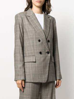 Frame checked print blazer