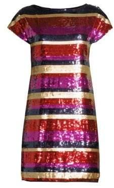 Trina Turk Breene Sequin Shift Dress
