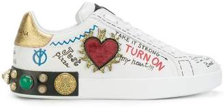 Dolce & Gabbana customised low top sneakers