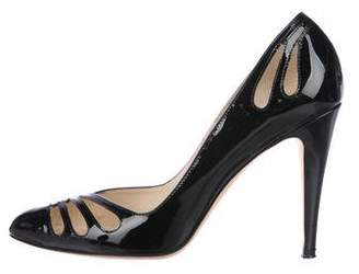 Brian Atwood Patent Leather Cutout Pumps