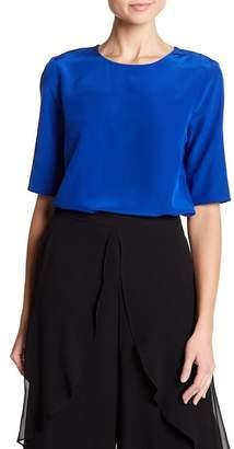 Badgley Mischka Silk Short Sleeve Blouse