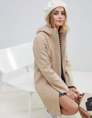 Asos Design DESIGN zip through coat with hood