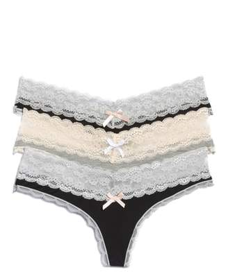 Honeydew Intimates 3-Pack Lace Thong