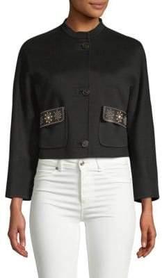 Valentino Studded High Neck Jacket