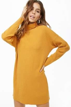 Forever 21 Ribbed Knit Turtleneck Dress