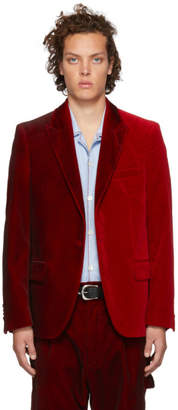 Golden Goose Red Velvet Kitt Blazer