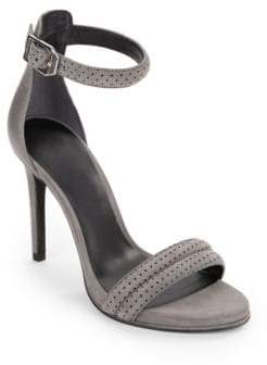 Kenneth Cole New York Brooke Leather and Suede Open-Toe Sandals