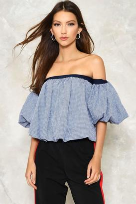 Nasty Gal nastygal Huff and Puff Off-the-Shoulder Top