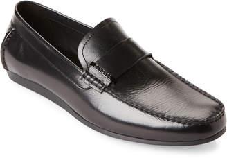 N. Zanzara Black Royce Moc Toe Driving Loafers