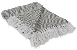 "Dii DII X-Diamond Geometric Decorative Throw, 50""x60"", 100% Cotton, Multiple Colors"