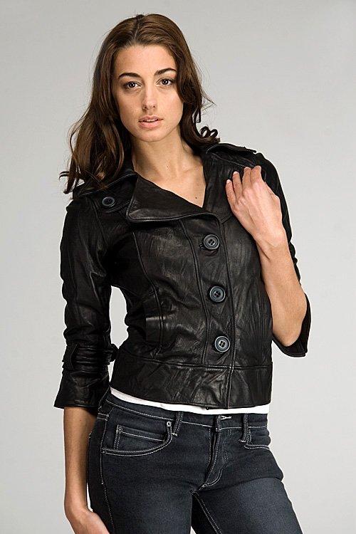 Mike & Chris Barley Black Leather Jacket