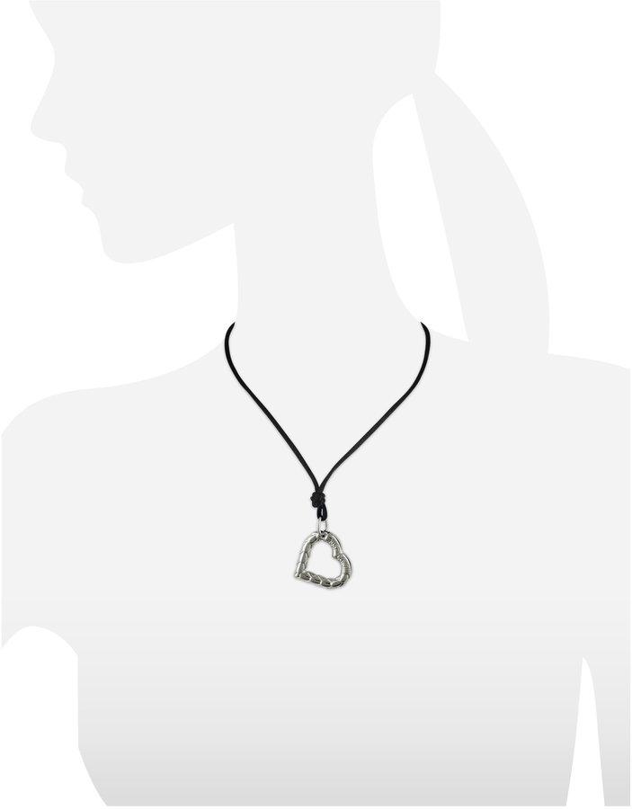 Just Cavalli Snake - Heart Pendant w/Lace